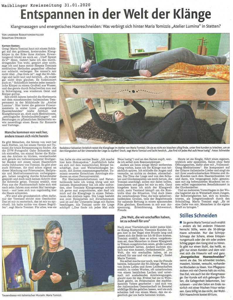 Waiblinger-Kreiszeitung 31.01.2020